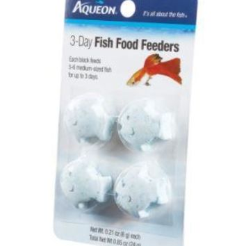 Aqueon Vacation Fish Food Feeders 3 Day 4-Pack