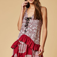 MinkPink Mandala Wonder Lace-Up Front Dress at PacSun.com