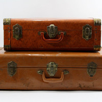 Vintage Suitcase / Vintage Stack of Suitcases / Old Suitcase