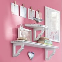 Transitional Nailhead Shelving