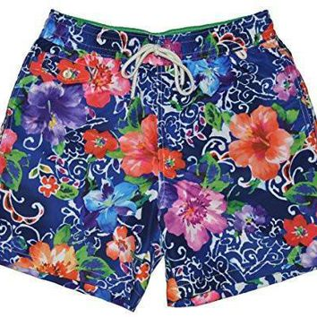Polo Ralph Lauren Mens Printed Swim Shorts Beach Trunks with Strings