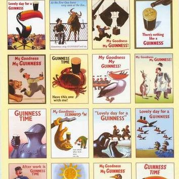 Guinness Beer Classic Ads Poster 24x36