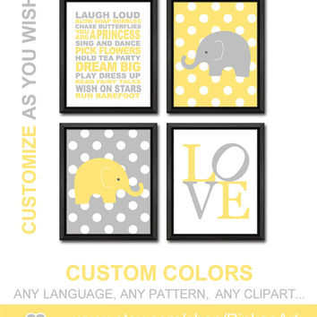 girls rules yellow gray playroom rules quote custom baby girl nursery safari theme girl decor girl room decor modern kids art toddlers gift