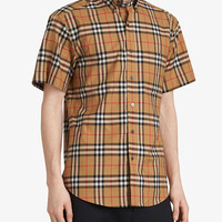 Burberry Short-sleeve Vintage Check Shirt - Farfetch