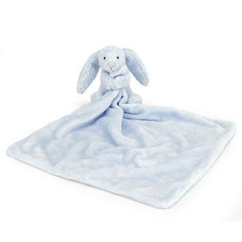 """Jellycat Bashful Blue Bunny Soother 13"""""""