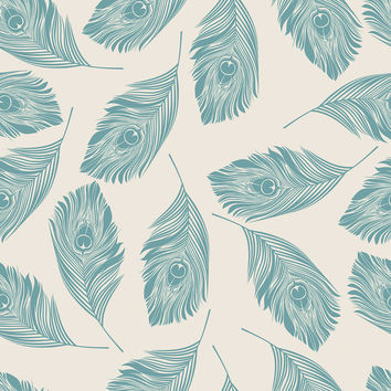 Peacock Feathers Removable Wallpaper