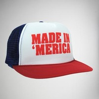 """Made in 'merica"" Trucker Hat"