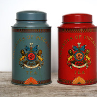 Vintage Metal Tin Container - Jacksons of Piccadilly Tea Tin