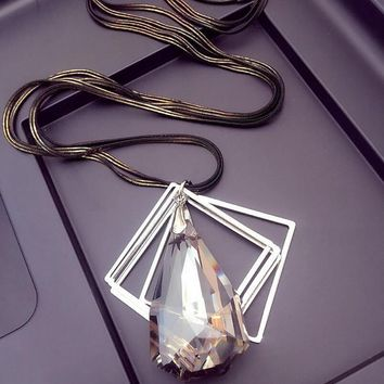 vintage crystal necklace gift box jewelry 50  number 1