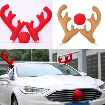 Christmas Holiday Car Truck Vehicle Costume Reindeer Antlers Red Nose Decoration
