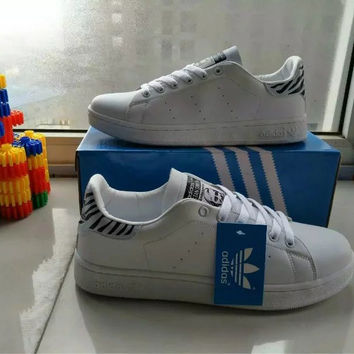 """""""Adidas"""" Fashion Casual Print Unisex Sneakers Plate Shoes """"STAN SMITH"""" Small White Shoes Couple Running Shoes"""