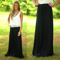 The Perfect Maxi Skirt in Black