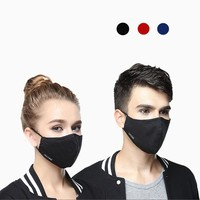 Cotton Adjustable Mouth Mask anti PM2.5 Haze dust mask Activated carbon filter Windproof Mouth-muffle Face Masks outdoor