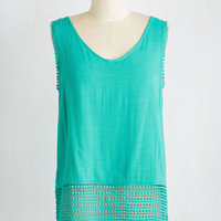 Mid-length Sleeveless Lanai Feel Good Top by ModCloth