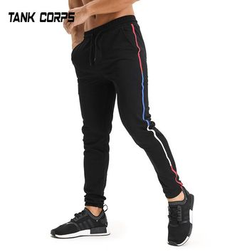 TANKCORPS Muscle Gyms Fitness Sweatpants Cotton Pants for Men jogger