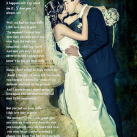 Wedding Photo First Dance Song Lyrics Photo Art Custom Photo Editing