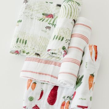 Cotton Muslin Swaddle 3 Pack by Little Unicorn