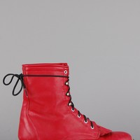 Laredo Red Leather Justin Lace Up Boots