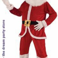 Santa Economy Mascot Adult Costume - Red - One-Size for Christmas