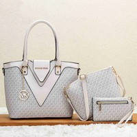 MICHAEL KORS MK MICHAEL KORS MK Fashion new pattern print shopping leather handbag shoulder bag women three piece bag
