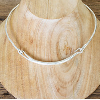 BauXo Fond Silver Necklace - Silver Plated Brass