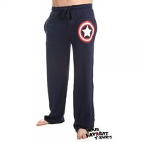 Captain America Symbol Superhero Sleep Lounge Pants Licensed Marvel Comics S-XXL