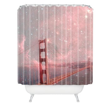 Bianca Green Stardust Covering San Francisco Shower Curtain
