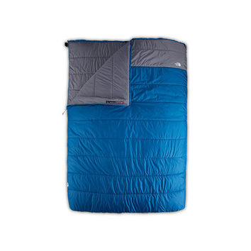 The North Face Dolomite Double Sleeping Bag: 20 Degree Synthetic Striker Blue/Zinc Grey,