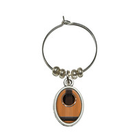 Acoustic Guitar Strings Wine Glass Charm - No. 2