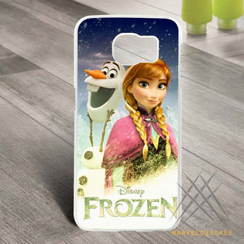 disney froozen olaf n elsa 2 Custom case for Samsung Galaxy