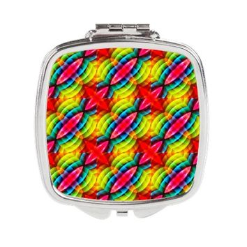 Rainbow Colors Abstract Patt Square Compact Mirror