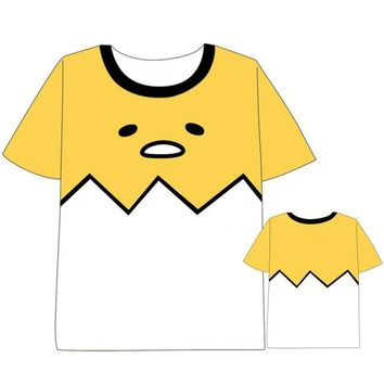 Japanese Hot Anime Gudetama Cute Printed T-shirt Cosplay Costume Daily Casual Short Sleeve Tee Shirts Unisex Tops