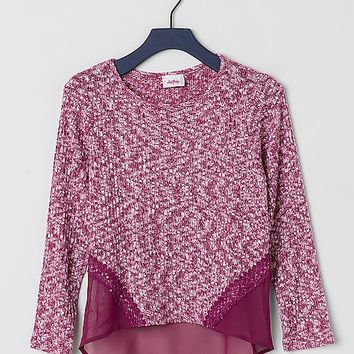 Women's Girls - Pieced Sweater in Purple by Daytrip.