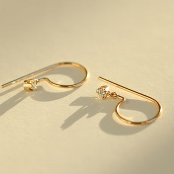 Diamond Loopdie (single) - Earrings - Catbird