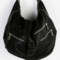 Deena & Ozzy Vegan Leather Multi-Zipper Hobo Bag - Urban Outfitters