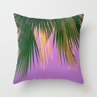 outdoor pillows, tropical pillows, tropical decor, palm trees, boho, purple, beach decor, beach house, weather resistant, beach pillow