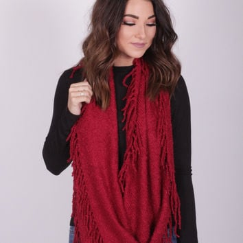 Autumn Nights Red Scarf