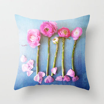 Wild Flowers and Spring Asparagus Throw Pillow by Olivia Joy StClaire | Society6