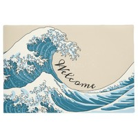Great wave - light blue doormat