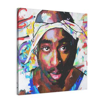 Tupac Shakur Square Leather Gallery Wraps