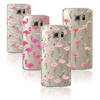 Phone Case Cover For Samsung S5 Soft Colorful Flamingo Silicon Mobile Phone Fundas Case Cover Clear Gel