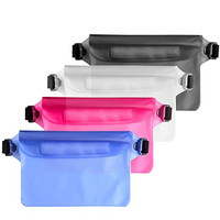 4 Pack Waterproof Bag, PChero 4 Colors Dust Snowproof Pouch with Waist Strap, Best Dry Bag for iPhone, iPad, Perfect for kayaking, canoeing, paddle boarding, Boating, Hiking, Swimming, Diving, Beach