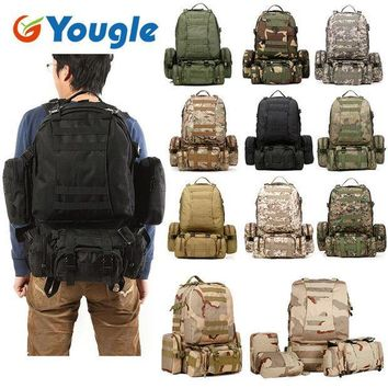ESBONHS YOUGLE 50L Molle Tactical Outdoor Assault Military Rucksacks Backpack Camping Bag New