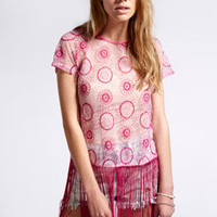 Boutique Katie Embroidered Lace Top