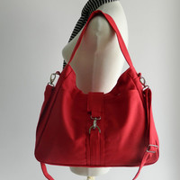 SALE - Ashley in Red // Messenger / Diaper bag / Tote bag/ Purse / Handbag / Shoulder bag / Women / For her / Gift