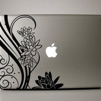 Macbook Decal - FLoral Design