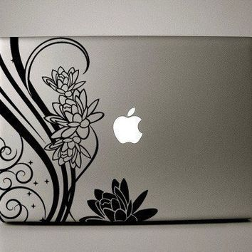 Macbook Decal  FLoral Design by williamandcindy on Etsy