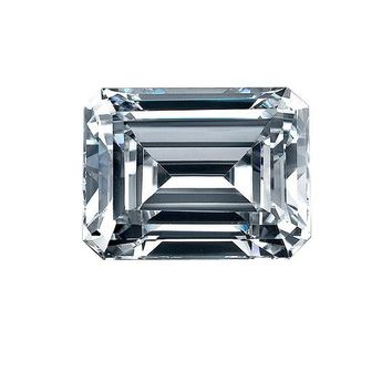 2ct Emerald Cut Diamond Veneer Loose Stone