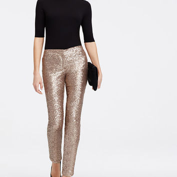 Sequin Ankle Pants | Ann Taylor