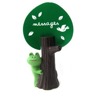 Adorable Frog Hide & Seek Animal Photo Stand Memo Holder